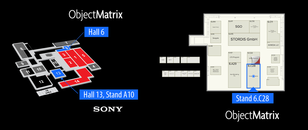 IBC RAI Amsterdam - Floor plan Object Matrix & Sony