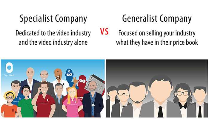 Specialist Suppliers vs Faceless Generalists