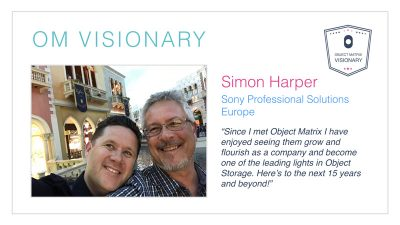 Simon Harper Sony Professional Solutions Europe.
